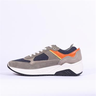 Igi & Co Leather Comfort Trainer - Dark Grey Nubuck